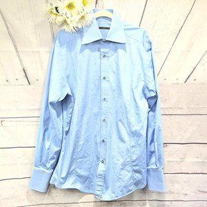 Vintage Loved Gucci Blue L/S  Tom Ford Era 42/16.5